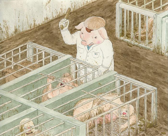 20 шокирующих рисунков, иллюстрирующих КАК люди обращаются с животными