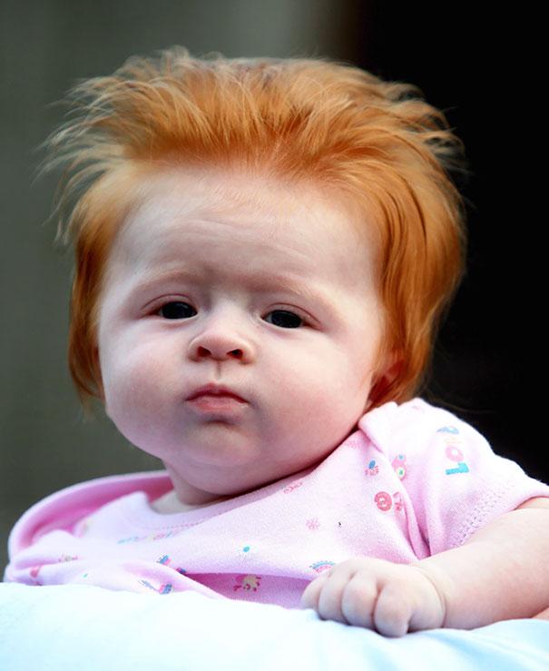 Фото 13 - 15 малышей, родившихся с удивительно роскошными причёсками