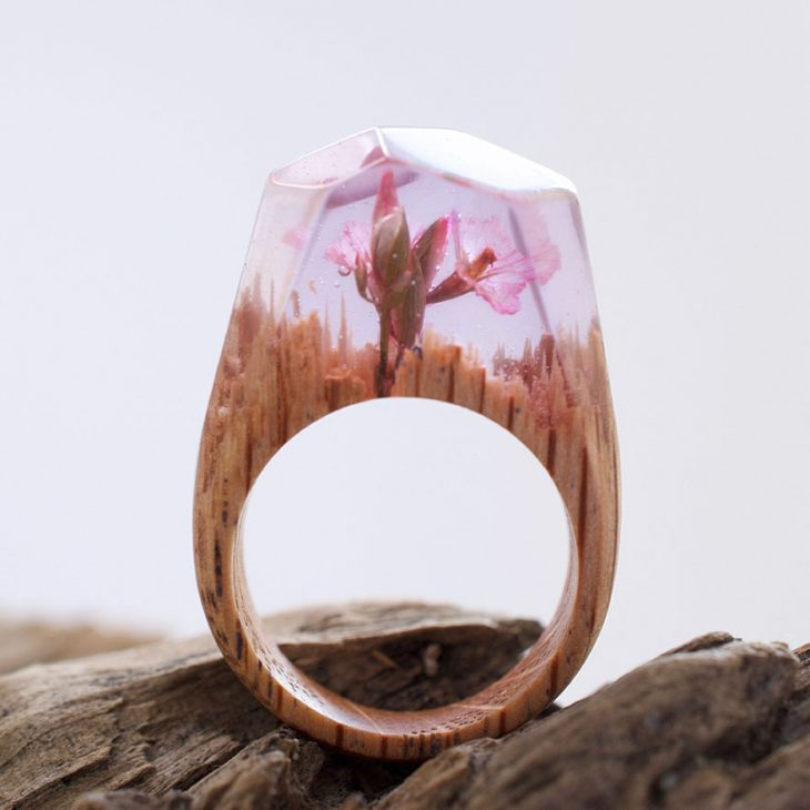 Чудесные миниатюрные миры, заключённые в деревянные кольца