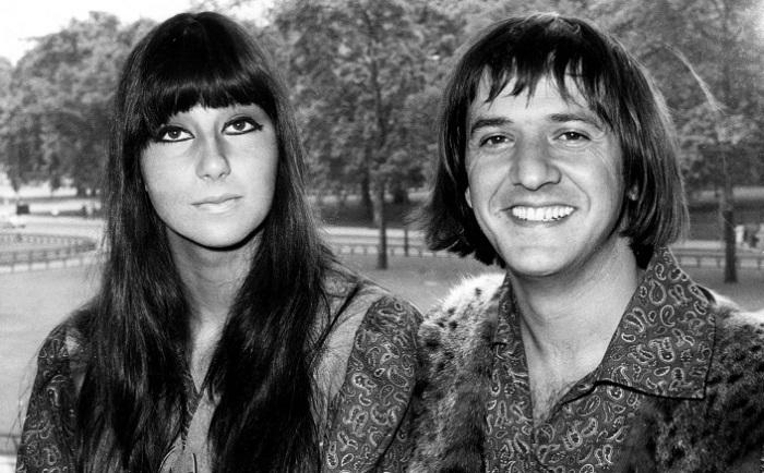 Певица Шер и ее бывший муж музыкант и продюссер Сонни Боно