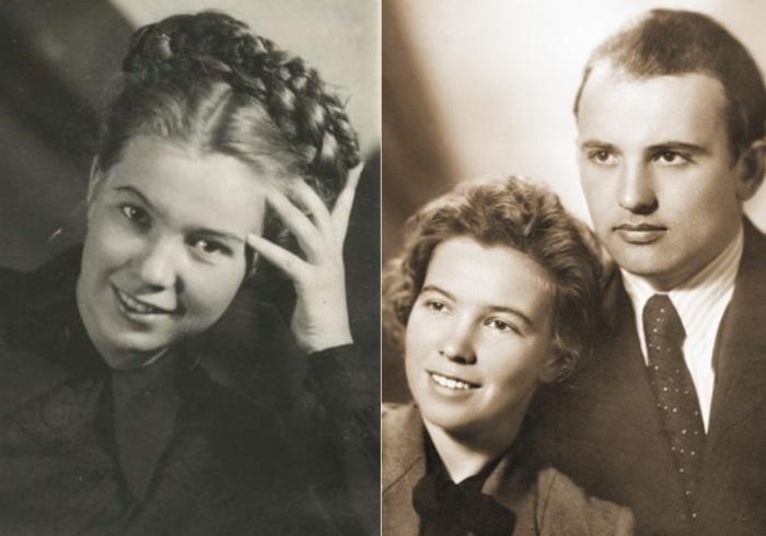 Слева – Раиса Титаренко в год поступления в МГУ, 1949. Справа – Михаил и Раиса Горбачевы, первый год брака, 1953