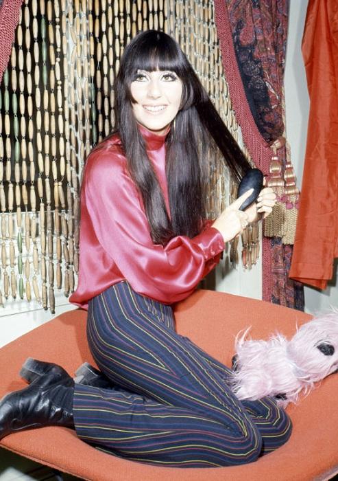 Шер в эпоху хиппи. 1968 год.