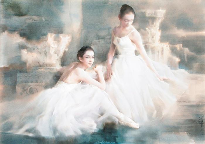 Утончённые образы балерин.