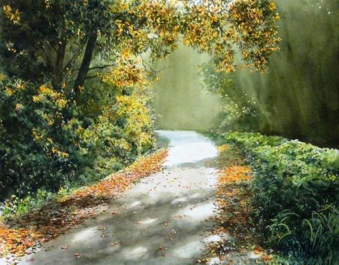Ослепительная живопись, залитая теплом и ярким светом.