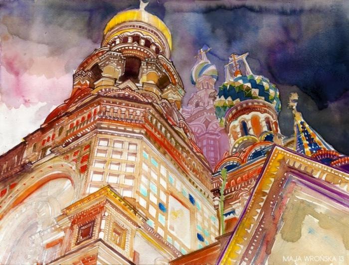 Красота зданий Санкт-Петербурга