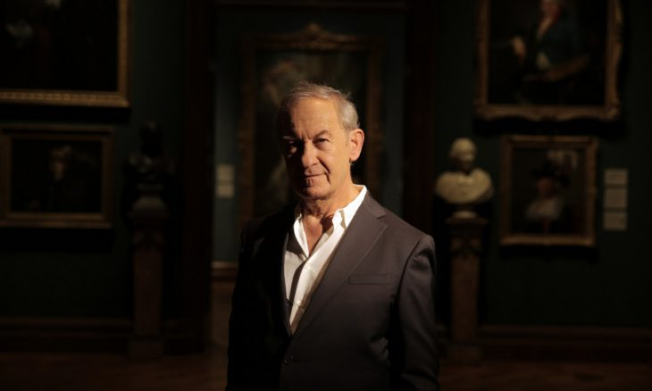"Undated handout photo issued by the National Portrait Gallery of Simon Schama, who has spoken of his disdain for selfies, saying the craze constitutes ""quick dumbness"" rather than true art. PRESS ASSOCIATION Photo. Issue date: Wednesday April 1, 2015. Speaking at the launch of his upcoming exhibition at the National Portrait Gallery, Schama said there was no comparison between great portraiture and ""the meteorite shower of images which we contribute to and come to us every single day"". See PA story SHOWBIZ Schama. Photo credit should read: Oxford Film and Television Ltd/PA Wire NOTE TO EDITORS: This handout photo may only be used in for editorial reporting purposes for the contemporaneous illustration of events, things or the people in the image or facts mentioned in the caption. Reuse of the picture may require further permission from the copyright holder."