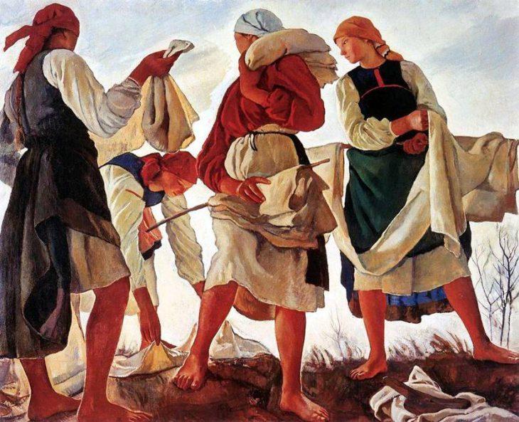 «Беление холста», 1917 год