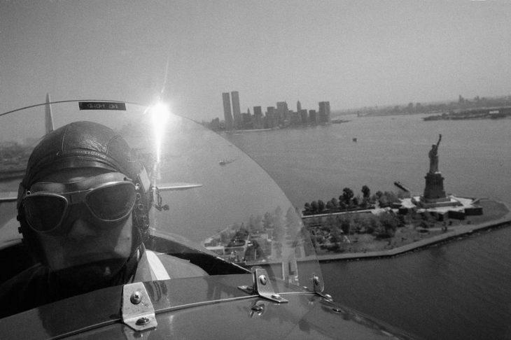 Capt. Buck Hilbert pilots vintage plane