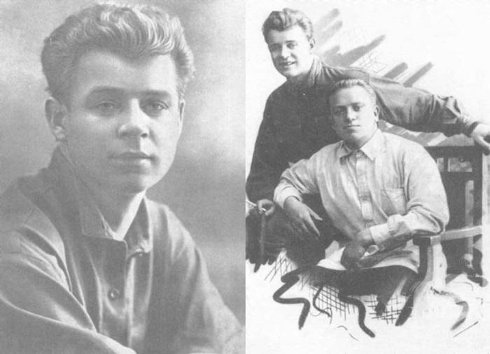 С. Есенин и его приятель, редактор газеты «Бакинский рабочий» П. Чагин, Баку, 1924