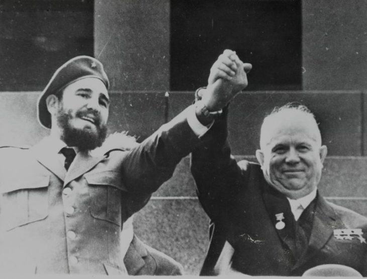 Фидель Кастро и Никита Сергеевич Хрущев