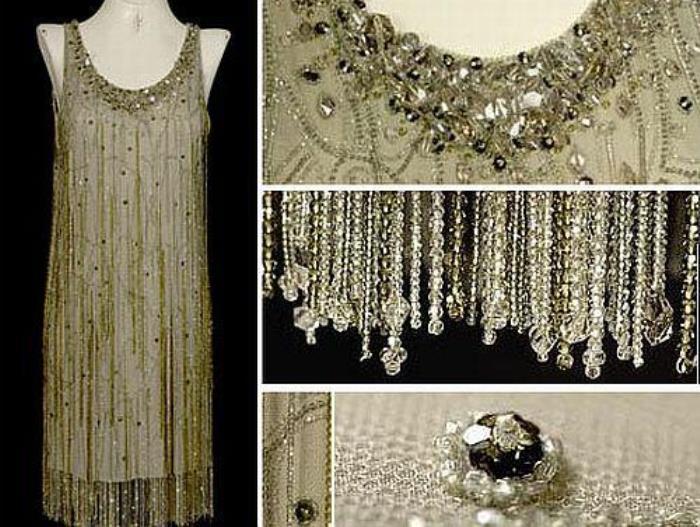 Платье, украшенное кристаллами Сваровски