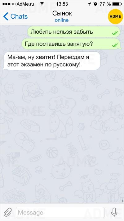 Фото 9 -10 смешных СМС ок онынешней школьной жизни, как всегда непростой