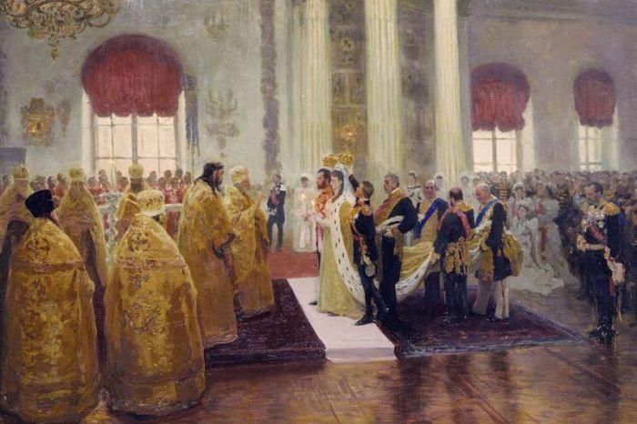 Венчание Николая 2 и Александры Федоровны