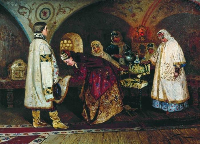 Первая встреча царя Алексея Михайловича с боярышнею Марией Ильиничной Милославской
